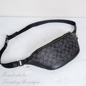NWT Coach Signature Warren Belt Bag Fanny Pack